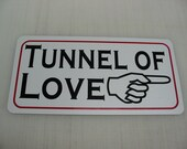 Tunnel of Love Metal Sign Vintage Carnival Fair Boardwalk Amusement Park Game Room
