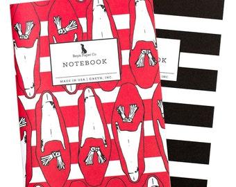 Tassel Loafer Mini Jotter Set/Mini Notebook Set/Shoe Notebook Set/Pocket Notebooks/Stripe Notebook/Tassel Loafers