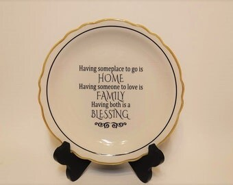 Vintage Homer Laughlin plate with quote