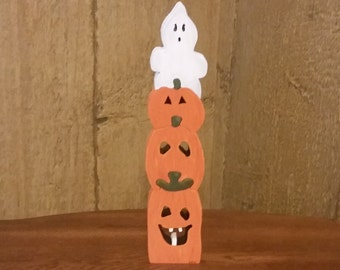 Ghost & Pumpkins Wood Puzzle