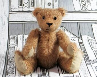 Artisr MOHAIR Teddy Bear 'Boris' Beige/Brown OOAK hand crafted - My Bear Foot Bears