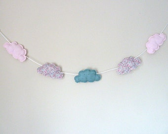 Wreath of clouds Liberty Eloise rose dragee and satin