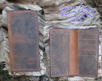 Buffalo leather Roper Wallet, Checkbook Wallet