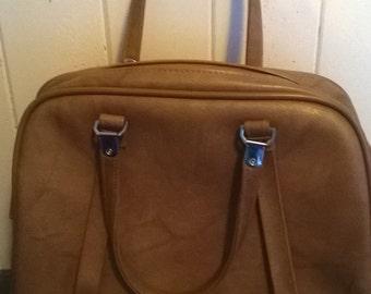 Vintage American Tourister Tan Overnight Bag, Luggage, Two Handled