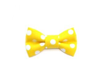 Yellow Spots Hair Bow