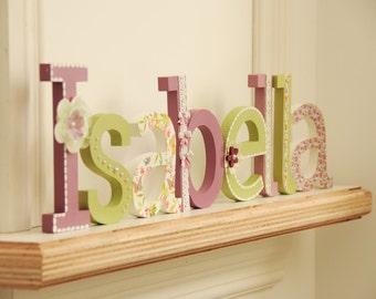 nombre de la letra de pi mano pintados y decorados letras madera para habitacin beb