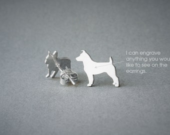 JACK RUSSELL NAME Earring - Jack Russell Name Earrings - Personalised Earrings - Dog Breed Earrings - Dog Earring