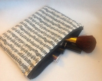 Sheet Music Cosmetic Bag Pencil Case 8x6