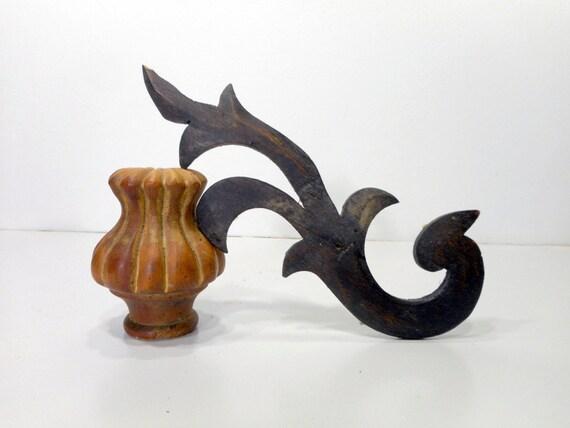 Carved Wood Furniture Trim Embellishment Vintage Furniture