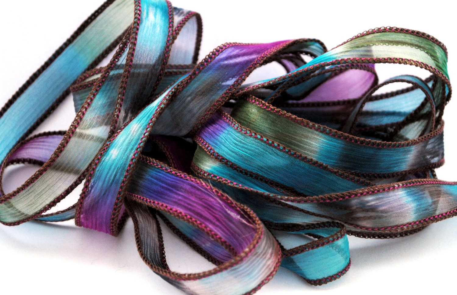 how to make hand dyed silk ribbon