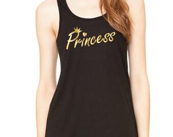Princess Tank Top. Disney Princess. I'm a Princess. Be a Princess. Princess Shirt. Women's Vest. Princess Top.