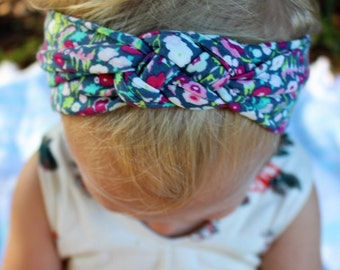 floral celtic knot headband baby/toddler/girls