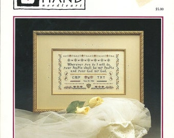 Heart in Hand The Marriage Promise cross stitch pattern