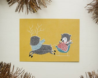 SALE!!! Greeting card: Rekiretki