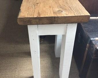 Handmade Reclaimed Wood Hall Table