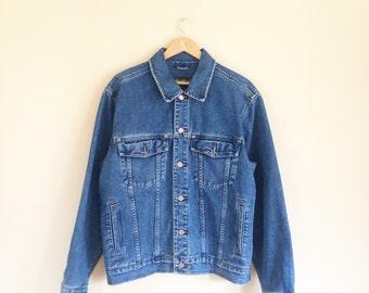 Vintage 90s Eddie Bauer Denim Jacket: pristine, grunge, hipster, 1990s, jean jacket