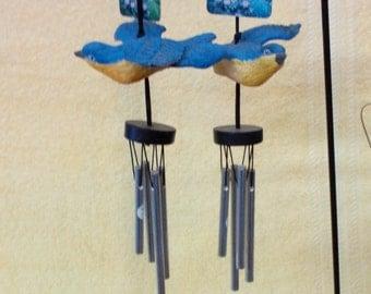 Wind Chimes-Bluebird, Ceramic-Vintage
