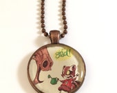 GROOT and Rocket Racoon - Recycled Comic Book and Resin Pendant Necklace * Guardians of the Galaxy * Skottie Young