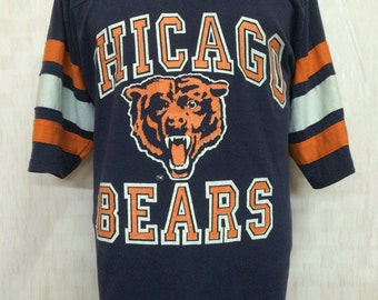 Vintage Chicago Bears Fooball Team AFL Tshirt Jersey Style Polyester Cotton 50/50 By Logo 7