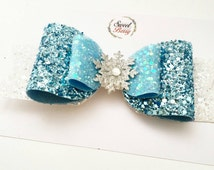 Frozen Elza bow ,disney inspire bow, party prop, photo prop, birthday bow, oversized bow, extra large bow