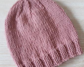 Baby beanie hat, Cashmere baby hat, Baby girl hat, Photo prop hat, Newborn hat, 0-3 months, Baby accessories, Knitted beanie, New baby girl