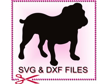 Bulldog SVG Files for Cutting Animal Cricut Clipart Designs - SVG Files for Silhouette - Instant Download