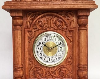 Handcrafted Mantle Clock