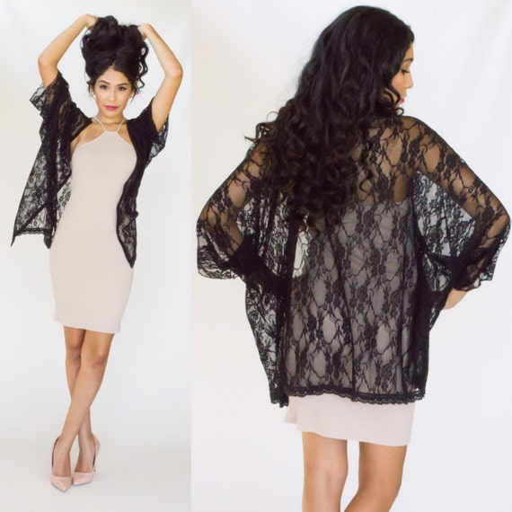 Free shipping Embroidered Lace Kimono Cardigan Cover Up BLACK ONE SIZE under $ in Cover-Ups online store. Best Lace Sleeve Dress Online and Lace .