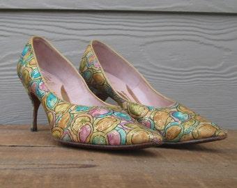 1950's Mijji Stiletto Kitten Heels.  Size 6 1/2 A.
