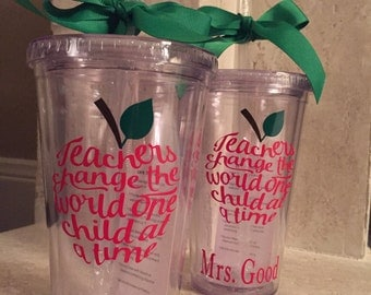 Shipped out the next day/Christmas Teacher Gift, Teacher Gift, Personalized teacher tumbler Teacher Appreciation Gift