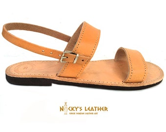 LEATHER SANDALS -  Slingback Sandals from 100% Full Grain Leather