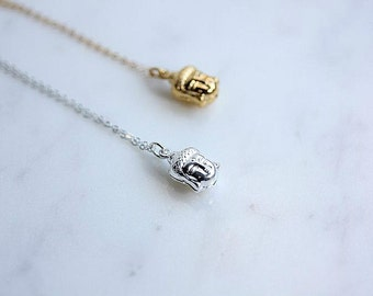 Buddha Necklace - Sterling Silver Buddha necklace - Yoga Necklace - Zen Necklace - Buddhist necklace