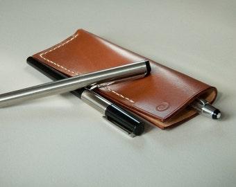 Etui stylo en cuir, étuis à crayons en cuir, poche stylo en cuir, porte-stylo en cuir, pochette crayon en cuir, mens personnalisé