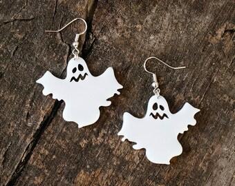 Niedliche Geister-Ohrringe // Schmuck für Halloween