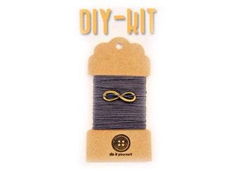 Bracelet kit de bricolage - crochet - - infini - Häkelschmuck DIY - bijoux DIY de thread - charme infini - - MudenoMade