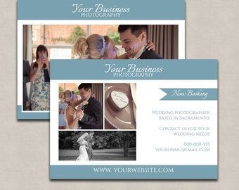 Wedding photoshop marketing template, wedding photographer flyer, customisable psd board, digital download kit, photography templates card