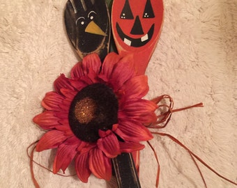 Halloween Wooden Spoons, Fall Wooden Spoons,Decorative Wooden Spoons