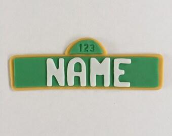 Sesame Street Logo Cake Topper-Fondant