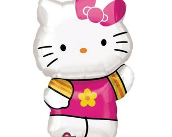 Hello Kitty Summer SuperShape Birthday Balloons, Hello Kitty Party Decorations, Hello Kitty Birthday Balloons Supplies, Hello Kitty Party