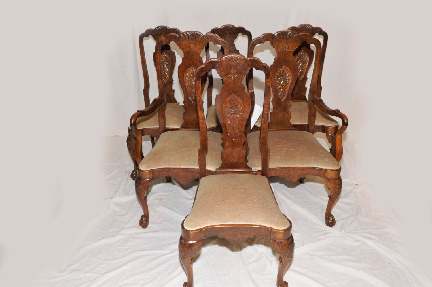 antique chippendale dining room chairs set of six