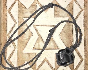 Hematite Macrame Stone Necklace