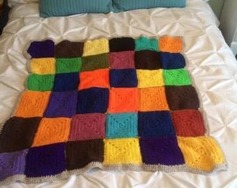 Crochet Throw Blanket - Handmade