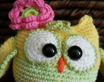 Owl. Toy handmade. Amigurumi. Gift for children. Plush toy.