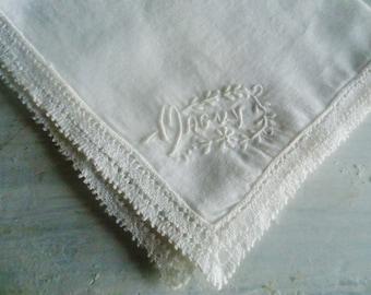 French Handkerchief Lace ,shabby chic  Handkerchief ,wedding Handkerchief /2