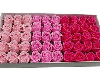 50 pcs SOAP ROSES with beautiful scent!! Wholesale flowers,Flower soap,Artificial flowers,House decoration,Rose soap,Bathroom decoration