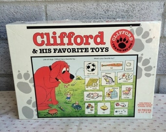 Clifford the Big Red Dog & His Favorite Toys, Clifford the Big Red Dog jigsaw puzzle, Clifford Puzzle