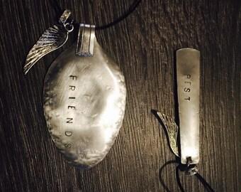 Best friend necklaces x2