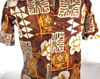 Vintage Holo Holo Men's Large Aloha Hawaiian Shirt