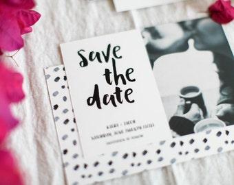 Black and White Wedding Save The Date - Elegant Wedding Save the date, Simple Wedding, Casual Wedding Invitation, Modern,Custom Wedding
