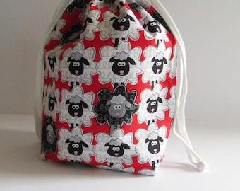 DR-023, knitting, crochet, DrawString bag, Projectbag, project bag, DrawString bag, knitting, crochet, Knittingproject bag, Projectbag
